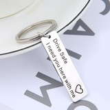 Classic/Simple Rectangular Stainless Steel Keychains (051189661)