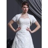 Lace Satin Wedding Wrap (013022586)