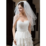 Three-tier Elbow Bridal Veils With Ribbon Edge (006035829)