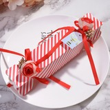 Creative/Classic Candy Shaped Card Paper Favor Boxes & Containers With Flowers (Set of 12) (050203418)