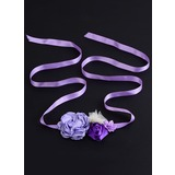 Beautiful/Flower Girl Satin Sash With Flower (015200713)