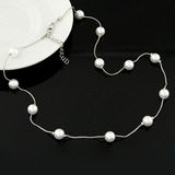 Stylish Alloy Imitation Pearls With Imitation Pearl Ladies' Fashion Necklace (Sold in a single piece) (137197165)