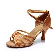 Женщины Атлас На каблуках Сандалии Латино с Ремешок на щиколотке Обувь для танцев (053053109)
