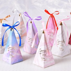 Romantic Moment Cubic Card Paper Favor Boxes With Ribbons (Set of 50) (050197448)