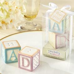 Floral Design Ceramic Salt & Pepper Shakers (Set of 2) (051143592)