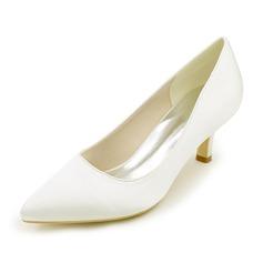 Женщины шелка как атласное Высокий тонкий каблук На каблуках с Другие (047111531)