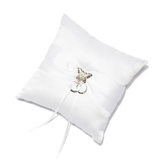 Butterfly Design Ring Pillow in Satin With Sash/Rhinestones (103018324)