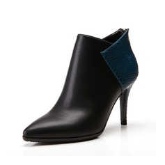 Leatherette Stiletto Heel Pumps Ankle Boots With Split Joint shoes (088057401)