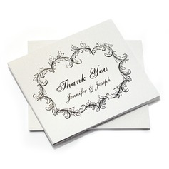 Personalized Floral Design Paper Thank You Cards (Set of 10) (118032216)